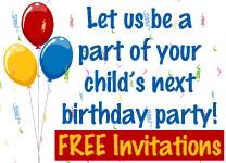 Let us be a part of your child's next birthday party.